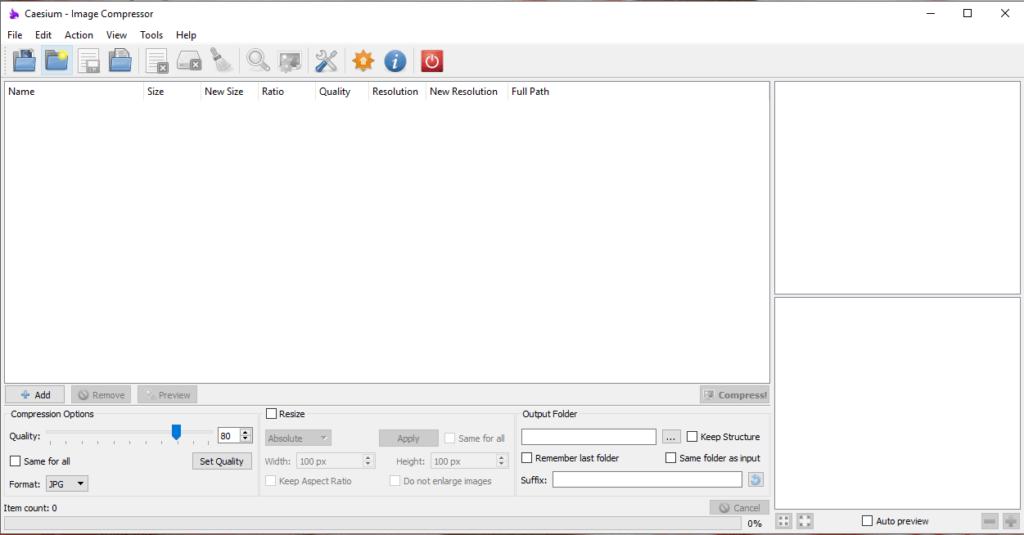 Caesium-1-1024x535 Come ottimizzare le immagini per il Web